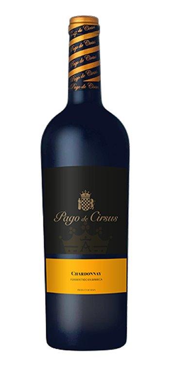 Vino Blanco Pago de Cirsus Seco Chardonnay Fermentado en Barrica