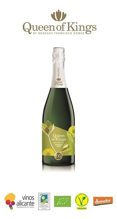 Vino Espumoso Queen Of Kings Moscatel Brut Nature, 1 ud