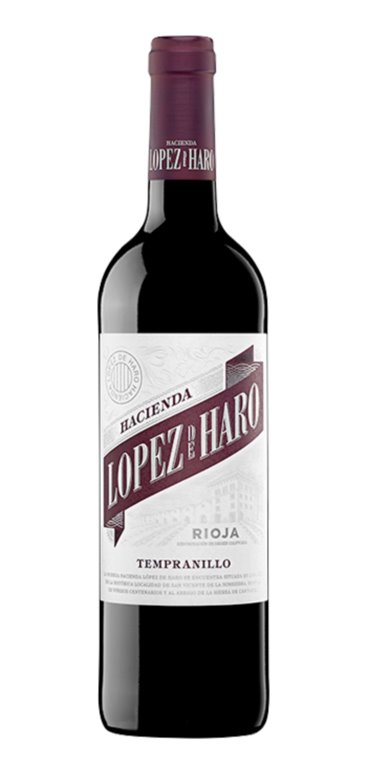 Vino Tinto Hacienda López de Haro Tempranillo, 1 ud