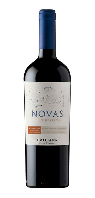Vino Tinto Novas Emiliana Organic Vineyards Carmenere Cabernet Sauvignon