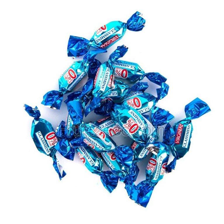 Virginias Glassmint Sin Azúcar, bolsa 65 gramos, 1 ud