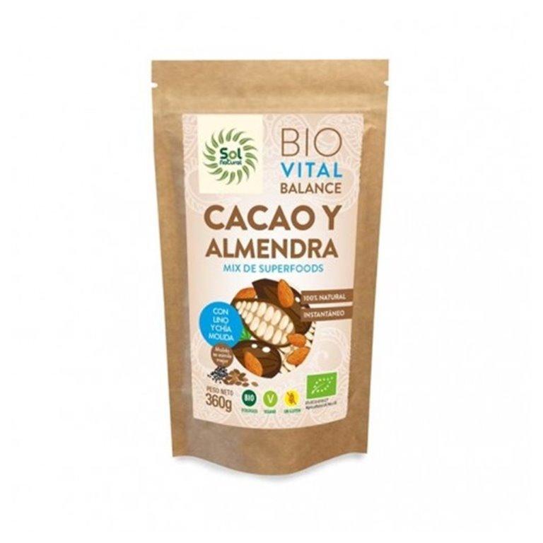 Vital Balance Cacao Almendras Bio 360g