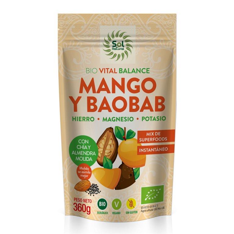 Vital Balance Mango y Baobab Bio 360g