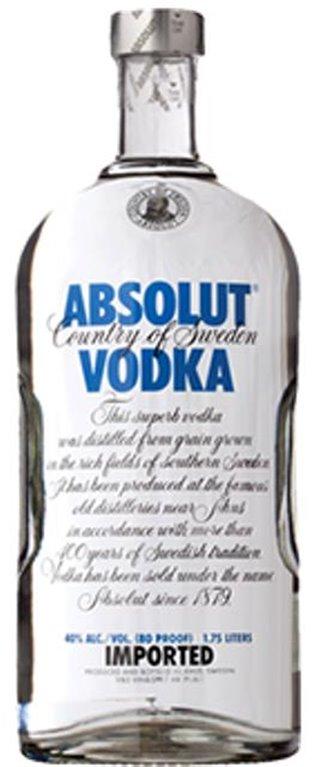 Vodka Absolut 1,75 Litros