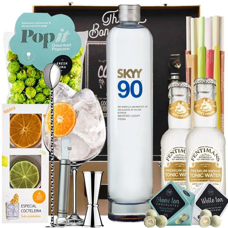 Vodka Skyy 90 1L Lote Regalo