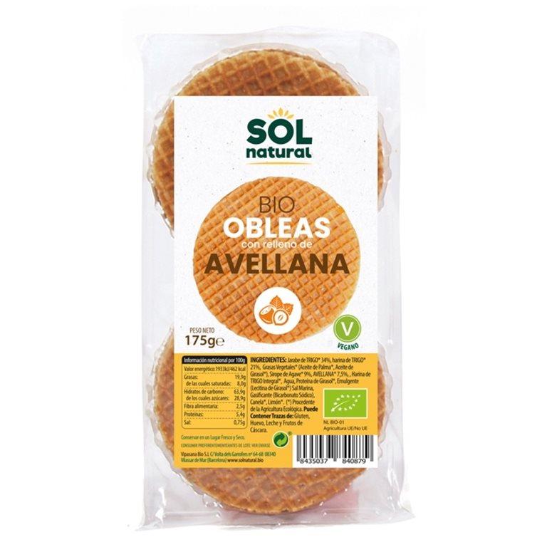 Wafels de Avellanas Bio 175g