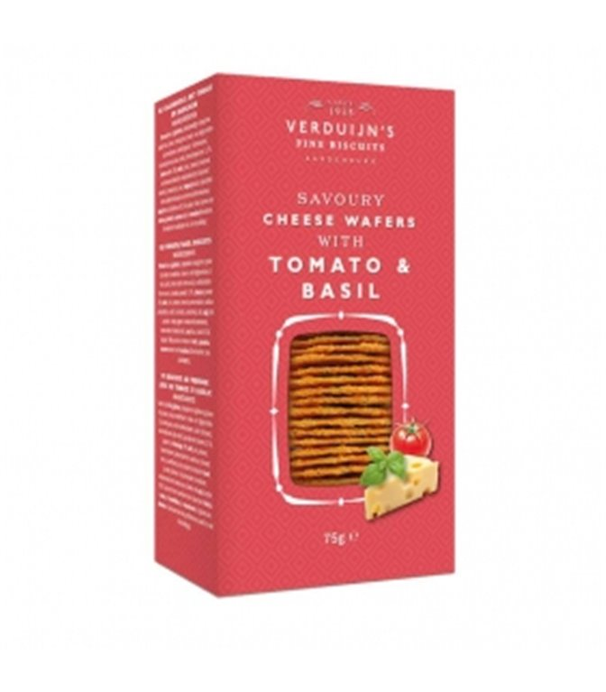 Waffers with Cheese, Tomato and Basil 75gr. Verduijn's. 12 pcs.