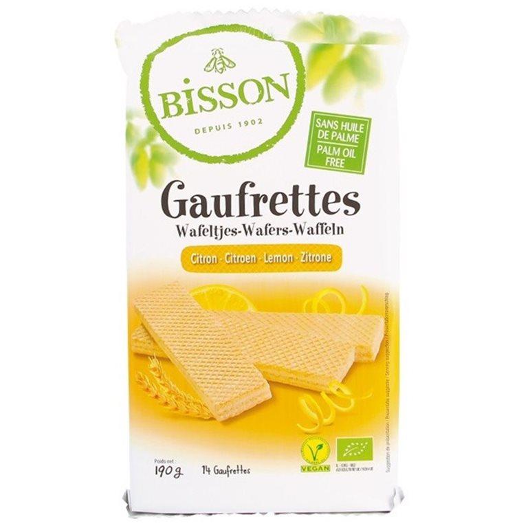 Wafers Gaufrettes Limón Bio 190g