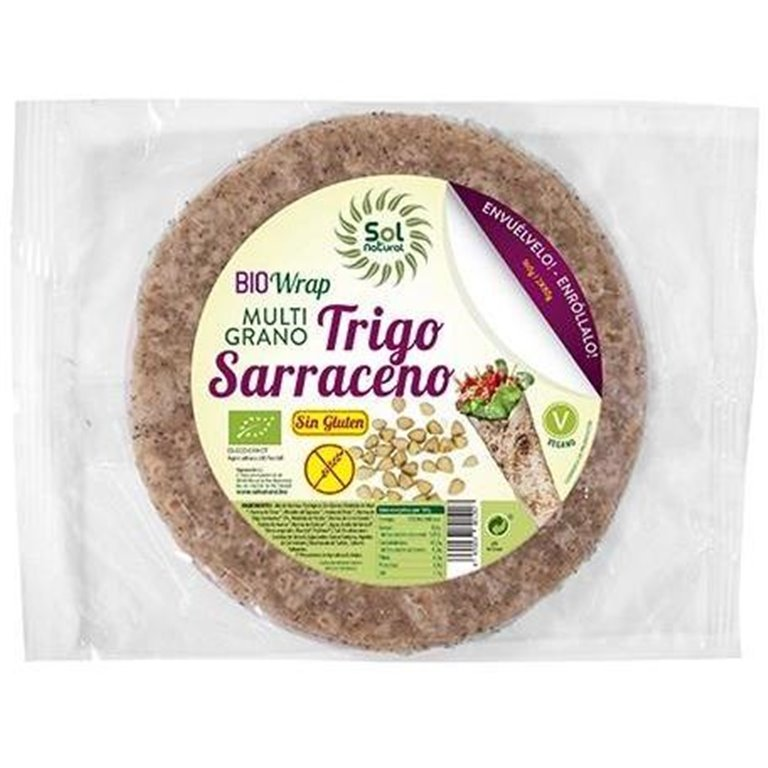 Wrap de Trigo Sarraceno Mix Sin Gluten Bio 160g, 1 ud