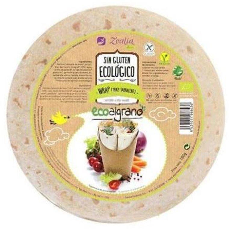 Wrap de Trigo Sarraceno Sin Gluten Bio 180g, 1 ud