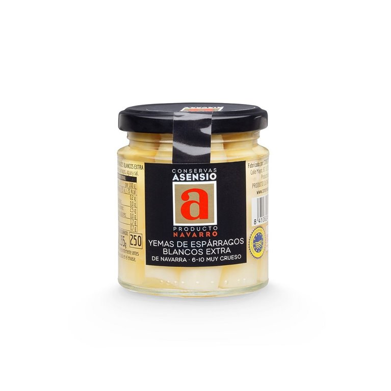 Yemas de Espárragos Frasco 220 gramos Blancos extra  6/10 Muy Grueso