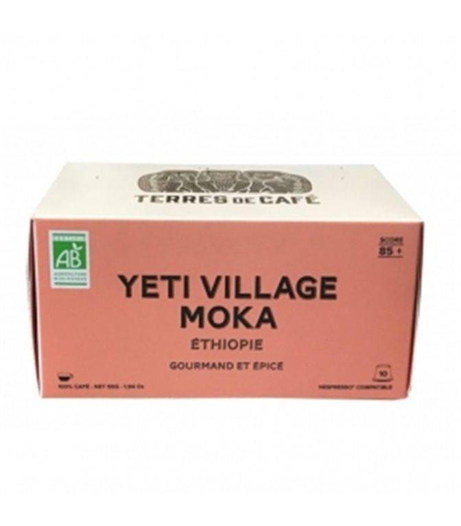 Yeti Village Moka 85+ Café Especialidad BIO (10 Cápsulas). Terres de Cáfe. 15ud
