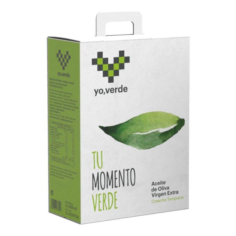 Yo, Verde - Picual - 3 Estuches 2 botellas 500ml