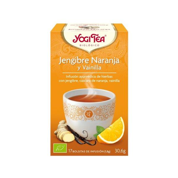 Yogi Tea Jengibre, Naranja y Vainilla Bio