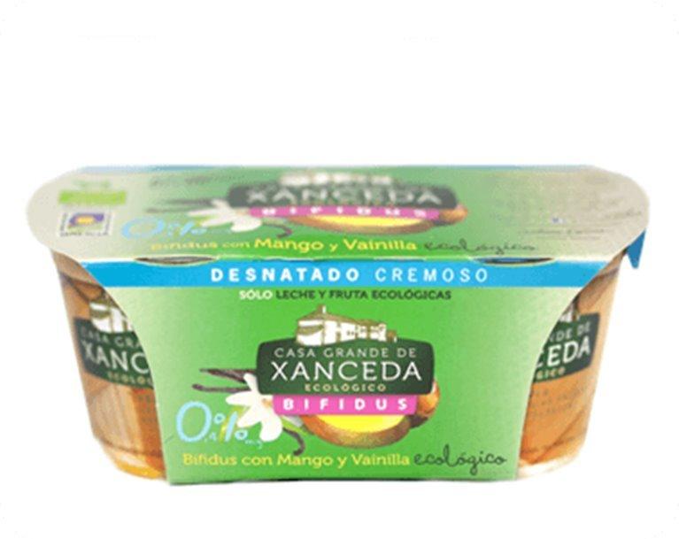 Yogur Bio Desnatado Bifidus Ecológico Mango/Vainilla, 250 gr