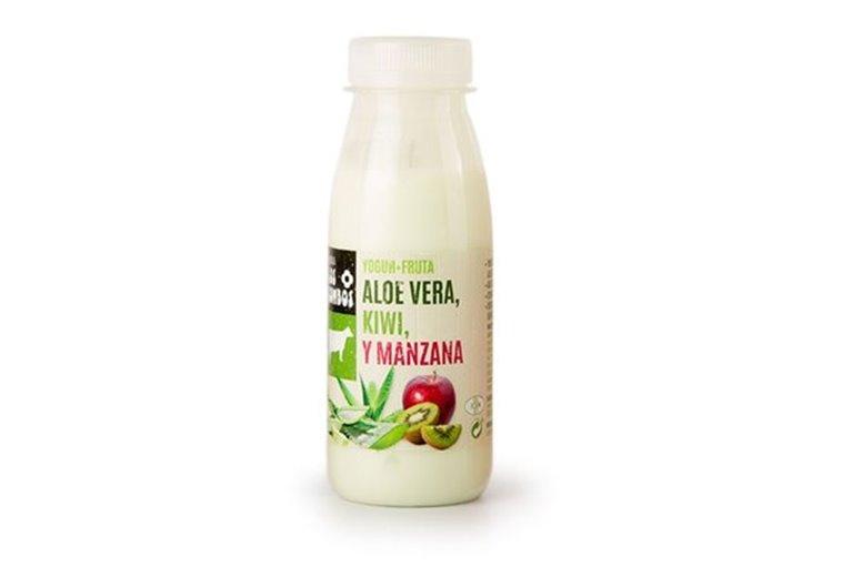 Yogur de fruta - aloe vera, kiwi y manzana