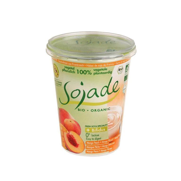 Yogur de soja mango y melocotón, 400 gr