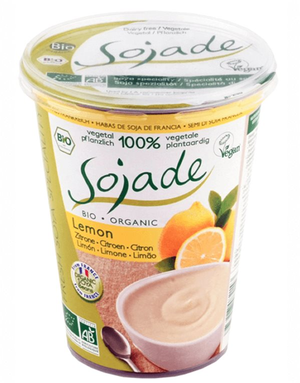Yogur de soja y limón, 400 gr