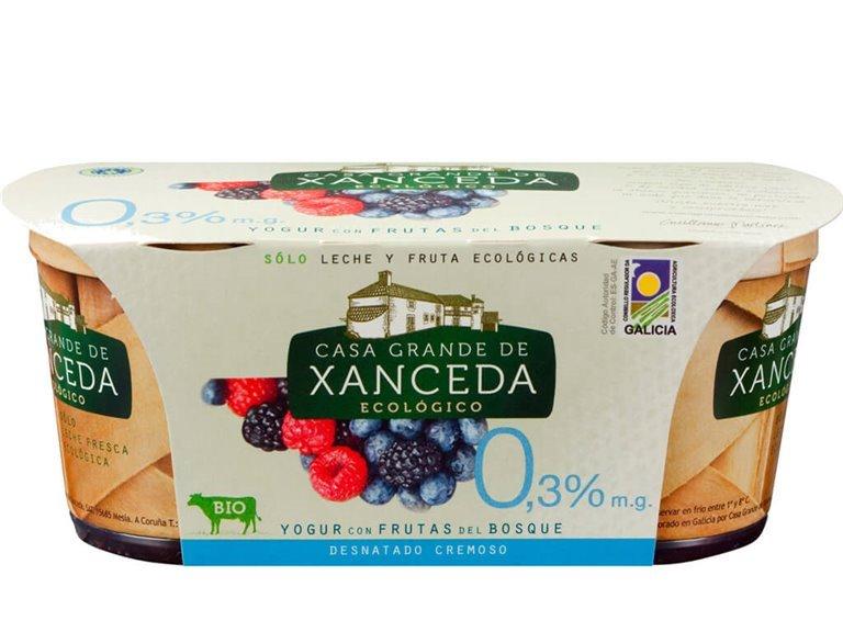 Yogur Desnatado Ecológico Frutos del Bosque, 250 gr