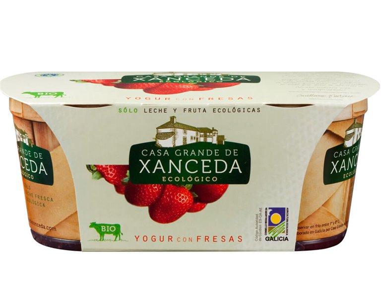 Yogur Entero Ecológico Fresa, 250 gr