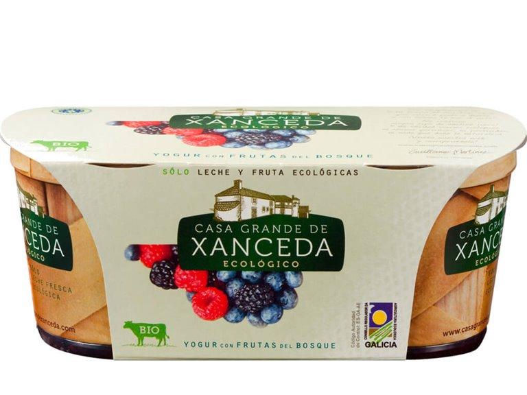 Yogur Entero Ecológico Frutos del Bosque, 250 gr