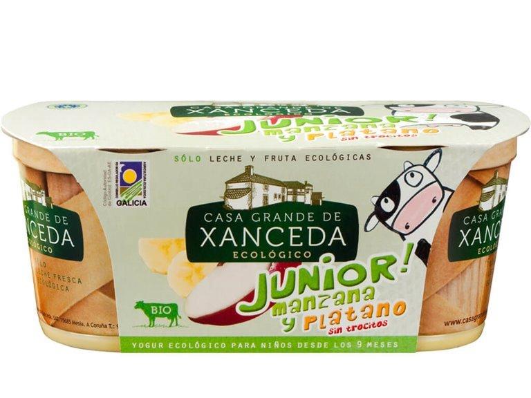 Yogur Junior Manzana y Plátano Ecológico, 250 gr