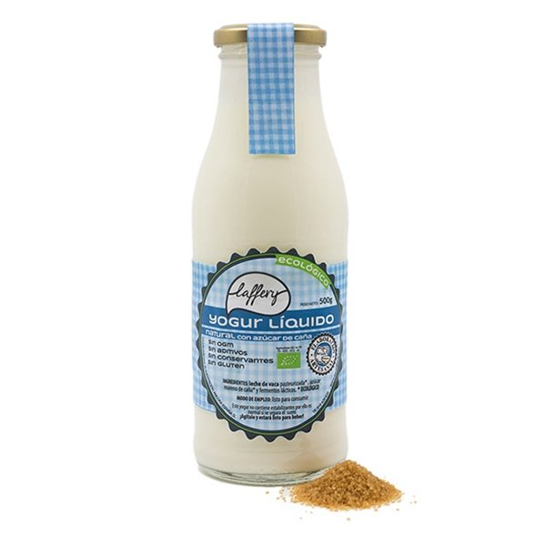 Yogur líquido natural azúcar caña