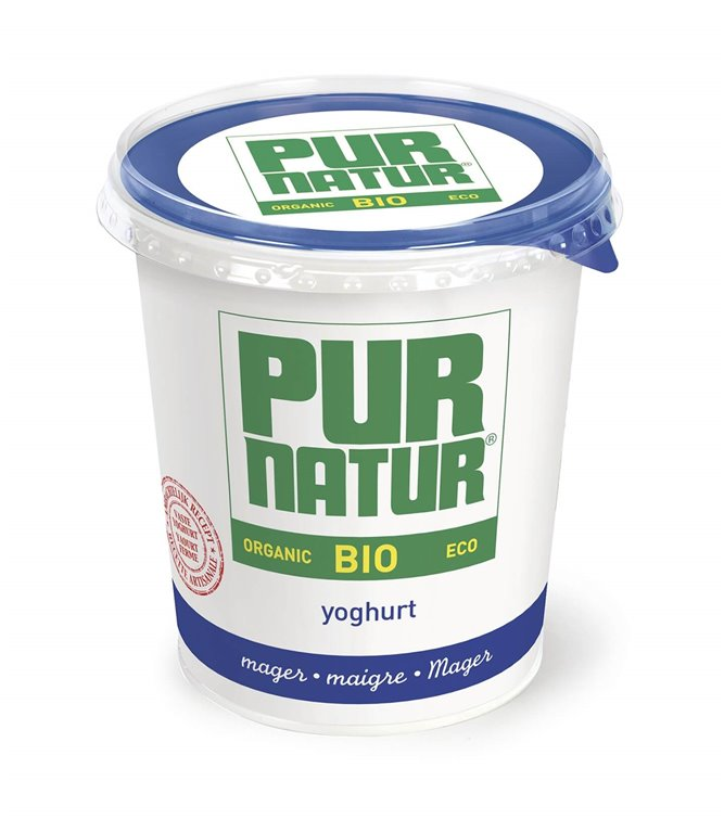 Pack 6x Yogur Natural desnatado BIO 750 g - Pur Natur