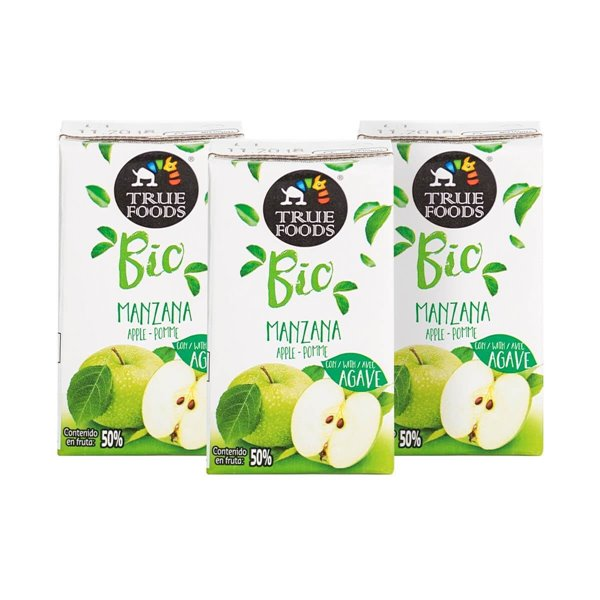 Zumo de manzana con Agave 3 Uds  - Truefoods