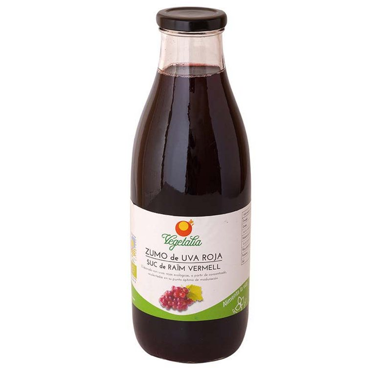 Zumo de uva roja ecológico, 1 l