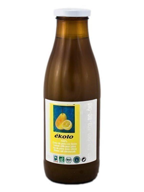 Zumo Ecológico De Pera Con Limón