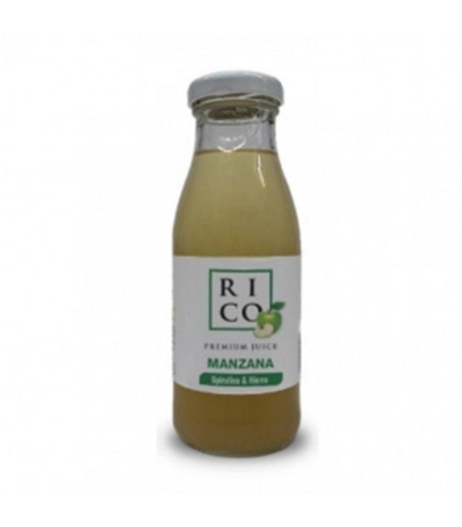 Apple and Spirulina Juice 200ml. Rich. 12 pcs.