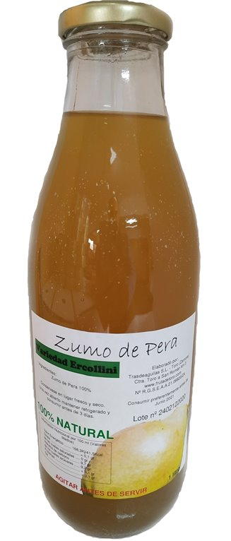Zumo Natural Pera Ercolini - 3 botellas, 1 kg