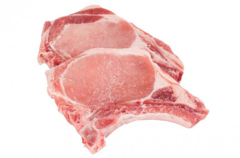 Chuletas de cerdo riñonada