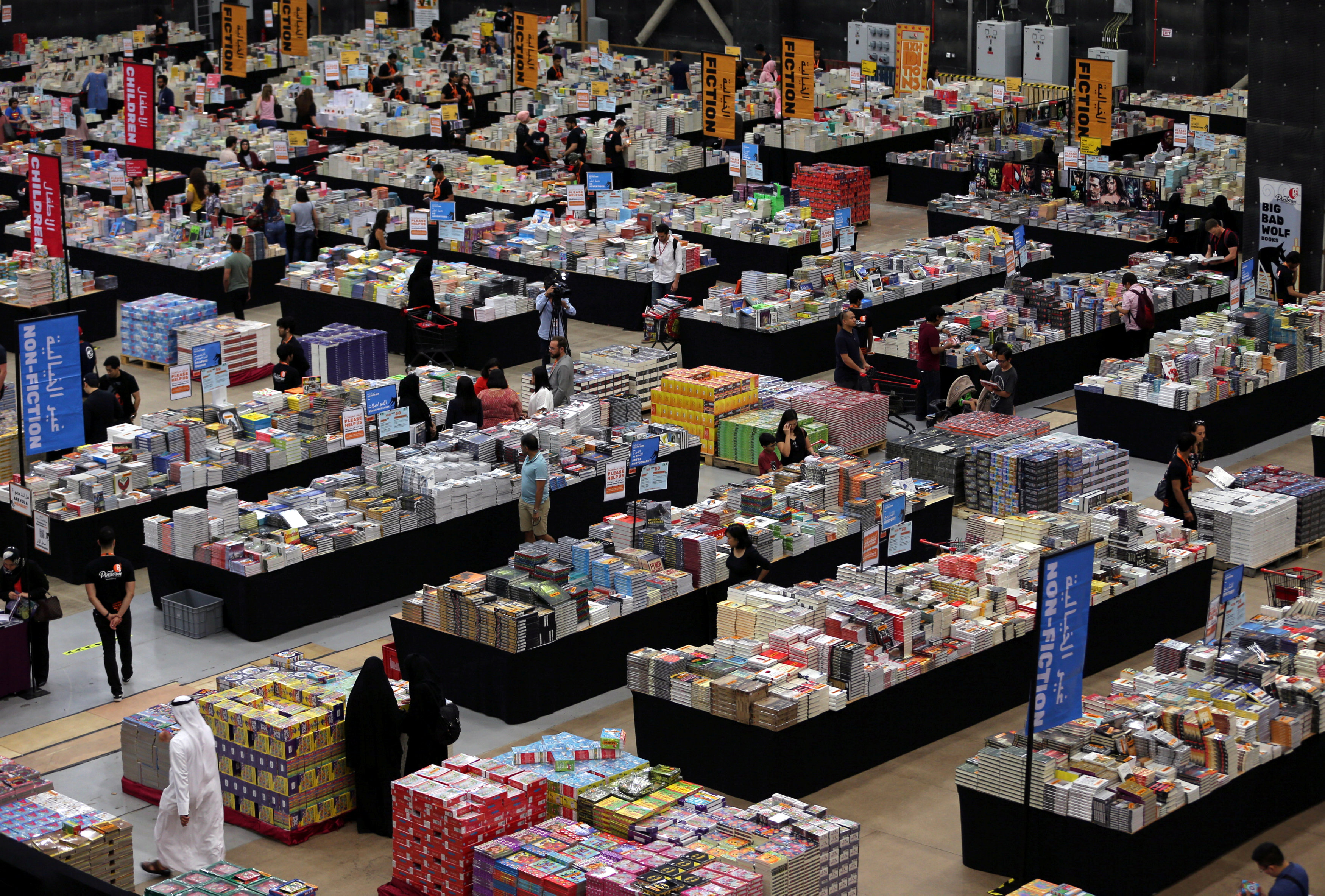 The Big Bad Wolf Book Sale, which calls itself the world's biggest, opens its doors to visitors in Dubai
