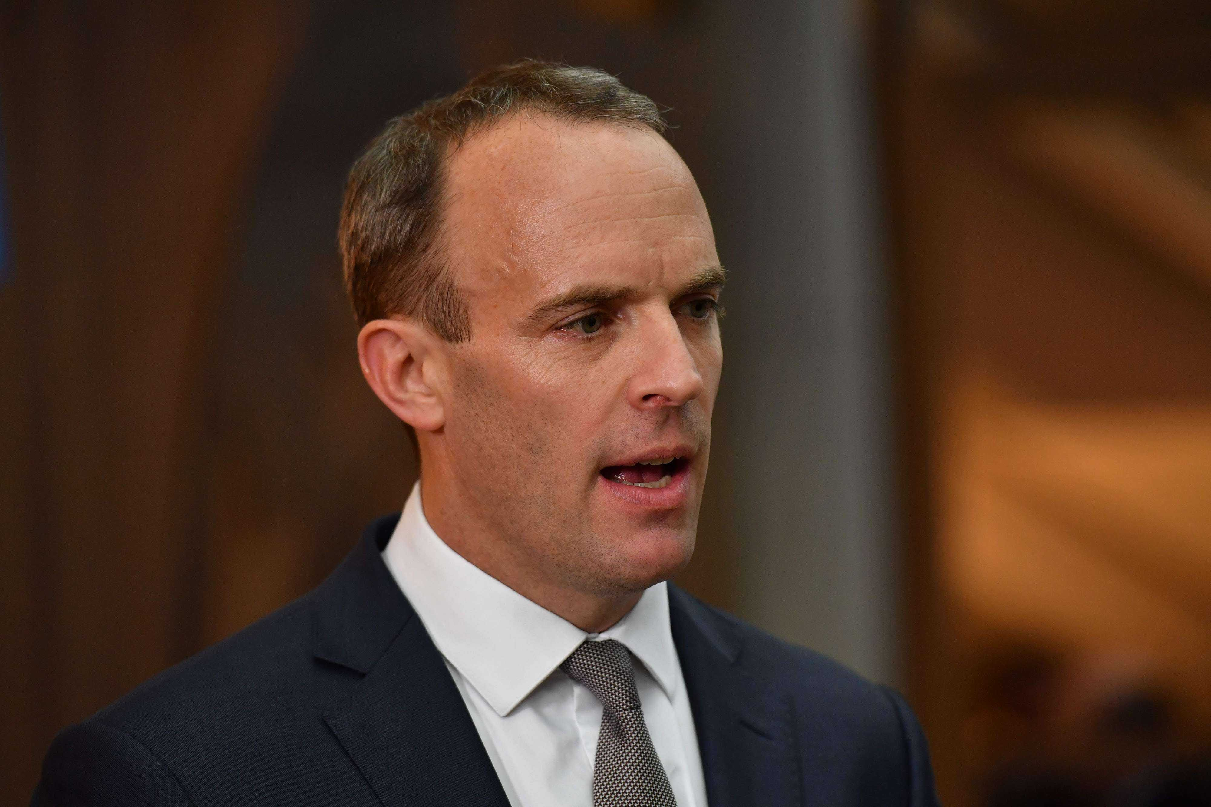 """""""I don't think it's credible,"""" Brexit Secretary Dominic Raab told the BBC"""