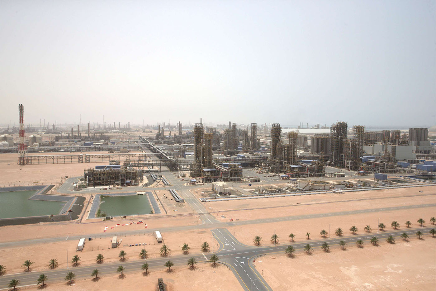 General view of the Borouge petrochemical facility at ADNOC's Ruwais Industrial Complex in Ruwais