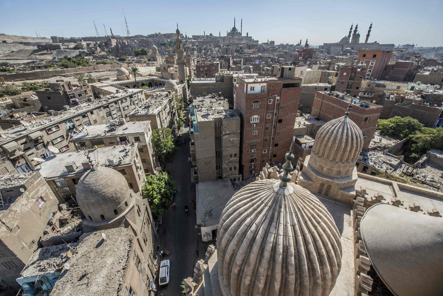A picture taken on October 28, 2018 shows the Umm al-Sultan Shaban mosque in the historical Islamic quarter of Cairo.