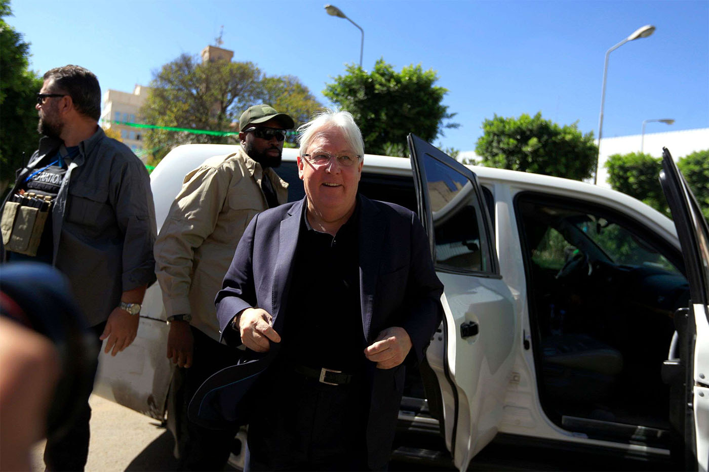UN envoy Martin Griffiths flew with Huthi rebels to allay their concerns