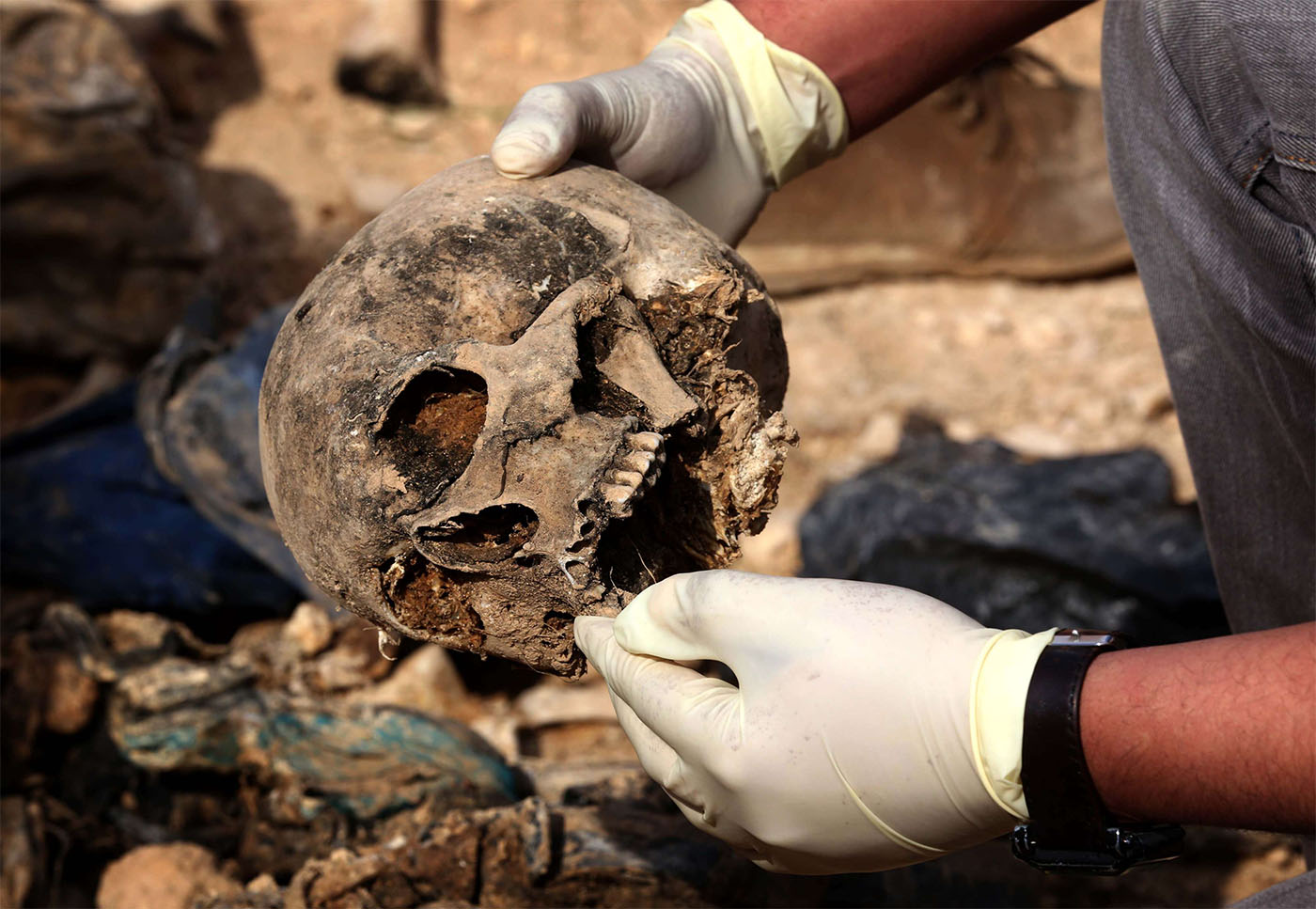 More than 200 mass graves containing up to 12,000 bodies have been recently discovered in Iraq