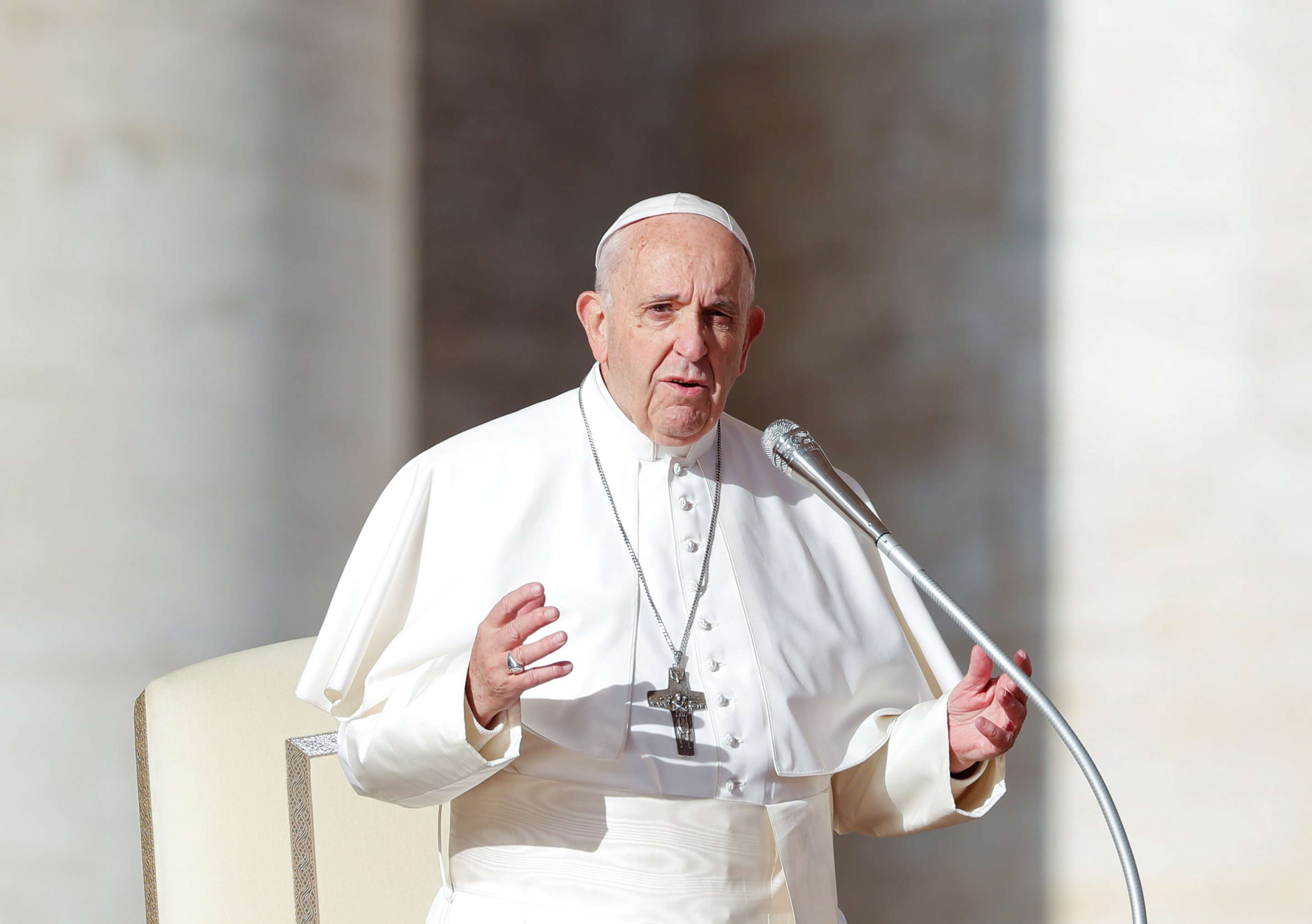 """The Vatican said the theme for the Abu Dhabi trip was summed up in the phrase """"make me a channel of your peace"""""""