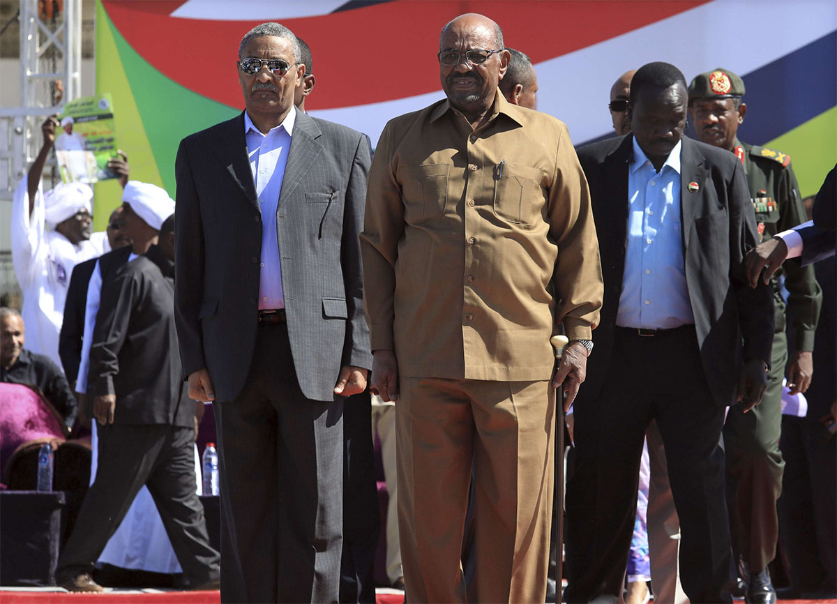 Sudan's President Omar al-Bashir attends a rally of his supporters in Khartoum