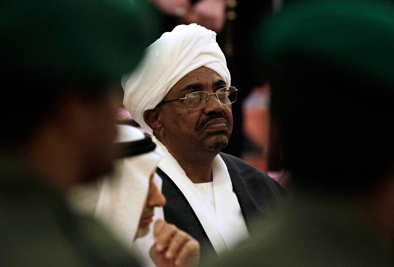 Sudanese President Omar al-Bashir attends the funeral of Saudi Crown Prince Sultan bin Abdul-Aziz Al Saud, in Riyadh, Saudi Arabia on Oct. 25, 2011.