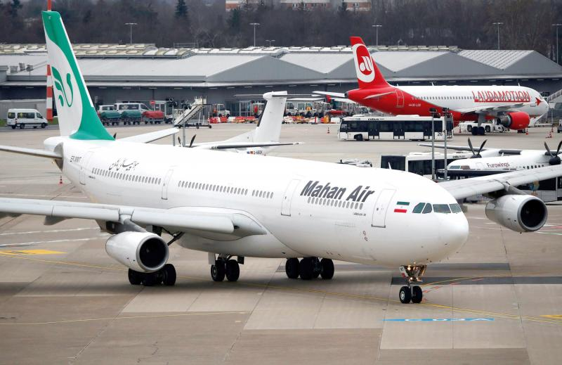 Clipped wings. An Airbus A340-300 of Mahan Air is seen at Dusseldorf International Airport in Gemany, January 16.