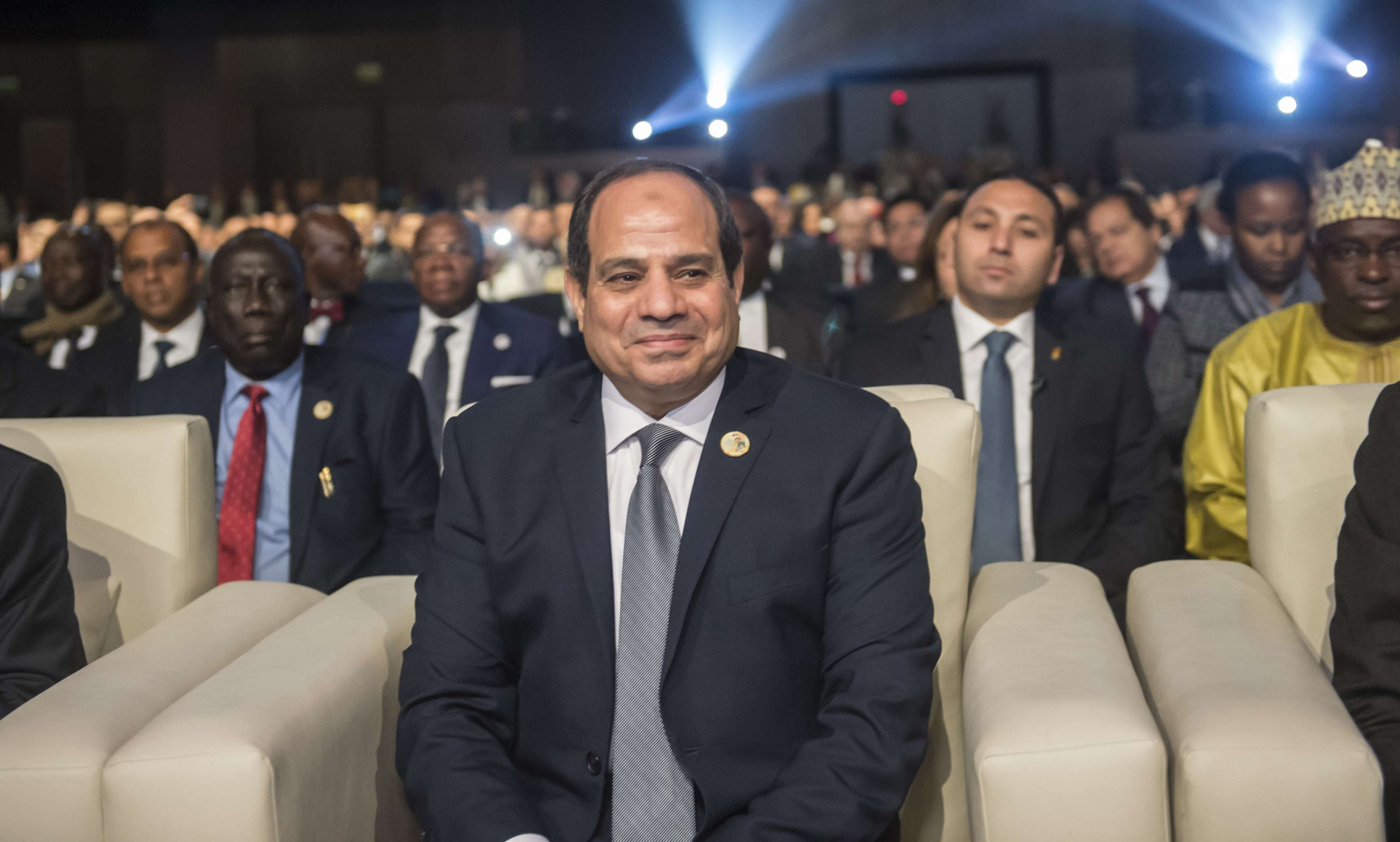 Egyptian President Abdel Fattah al-Sisi attends the opening session of the Africa 2017 Forum in the Red Sea resort of Sharm el-Sheikh on December 8, 2017.