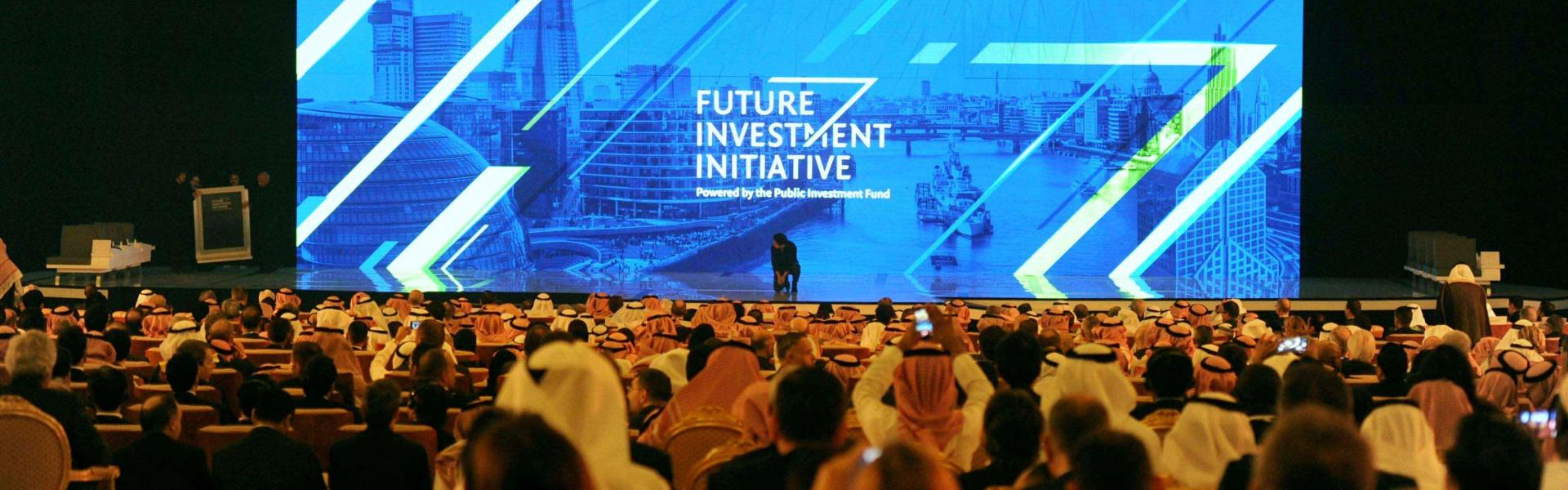 People attend the Future Investment Initiative (FII) conference in Riyadh last year