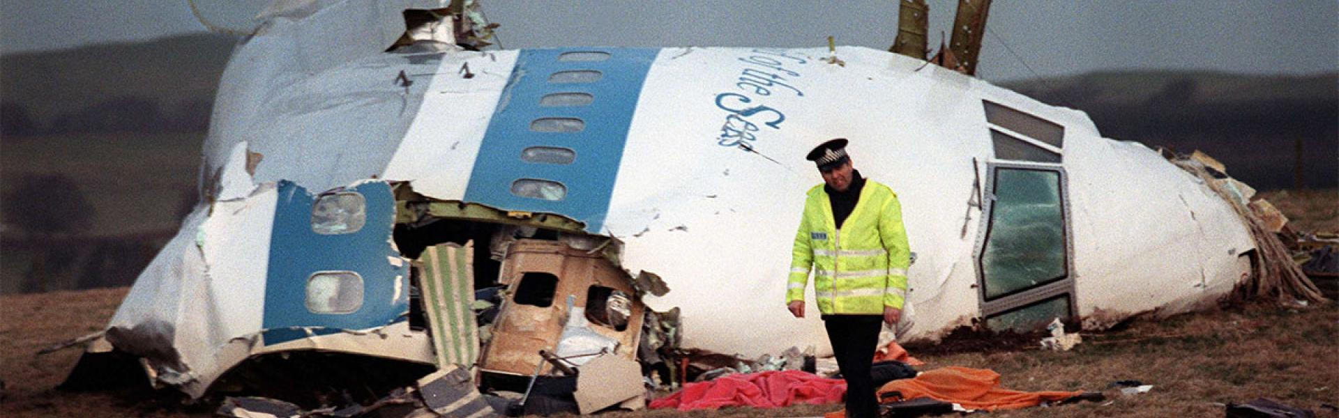 The wreckage of Pan Am flight 103 aircraft that exploded 30 years ago