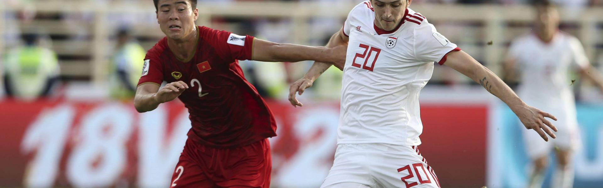Azmoun, 24, quit the national team after fans rounded on him following Iran's exit at last year's World Cup