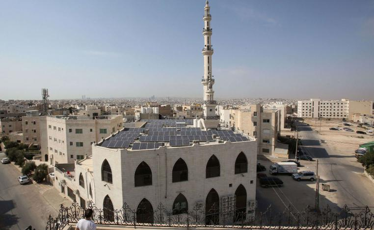 a view of the Hamdan al-Qara mosque in southern Amman.