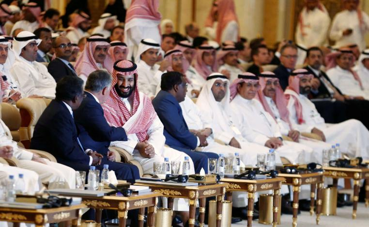 Saudi Crown Prince Mohammed bin Salman and Jordan's King Abdullah II ibn Al Hussein attend the investment conference in Riyadh, Saudi Arabia .